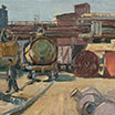 Factory in Podolsk. 1981. Oil on cardboard.