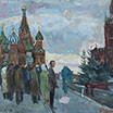 The Red square. 1963. Oil on cardboard.